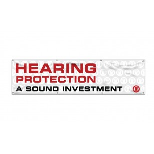 Hearing Protection 8-ft Banner
