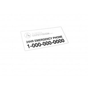 Blockout Replacement Decal w/ Logo & Emer. Phone