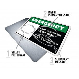 Custom Emergency w/Pictogram