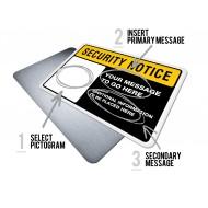 Custom Security Notice w/Pictogram