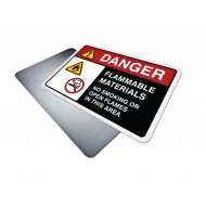 Flammable Materials - No Smoking or Open Flames