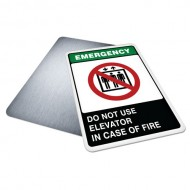Do Not Use Elevator in Case of Fire