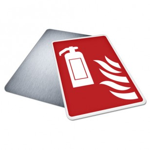 Fire Extinguisher With Flames