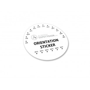 Orientation Stickers with Logo