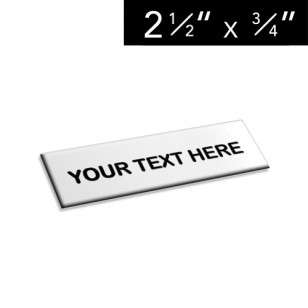 "2 ½"" x ¾"" Lamacoid Tag / Nameplate"