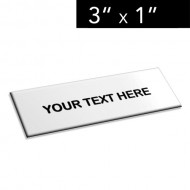 "3"" x 1"" Lamacoid Tag / Nameplate"