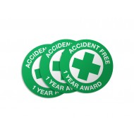 Accident Free 1 Year Award Stickers - 50/Pack