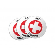 AED Trained Stickers - 50/Pack