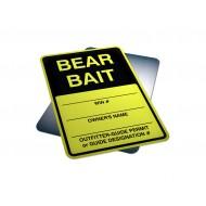 Bear Bait Hunting Sign