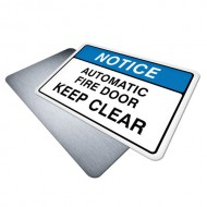 Automatic Fire Door (Keep Clear)