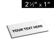 "2 ½"" x 1"" Lamacoid Tag / Nameplate"