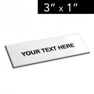 "3"" x 1"" Lamacoid Tag / Nameplate"